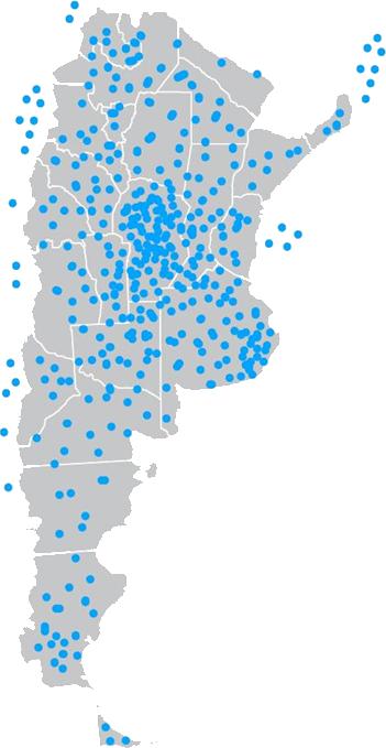 Mapa de oyentes